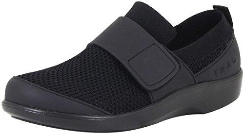 TraQ by Alegria Womens Qwik Walking Shoe, Black Out, Size 37 EU (7-7.5 M US Women)