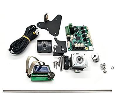 CHPOWER Dual Z-aixs Full Upgrade DIY Kit for Creality CR-10 into CR-10S Includes 3D Printer Accessories Dual Z Axis, Mainboard, LCD, Lead Screws, Filament Detector, Motor Wires