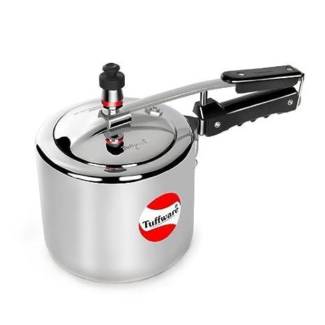 Tuffware Aluminium Inner Lid 1 Litre Regular (Silver) Pressure Cookers at amazon