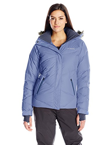 Columbia Women's Lay D Down Jacket, Bluebell, - Coat Down Satin
