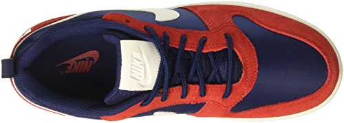 Nike Herren Court Borough Low Prem Basketballschuhe Blau (Midnight Navy/sail/university)