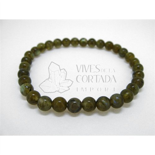 Bracelet Labradorite Balls of 6 mm Vives Cortada