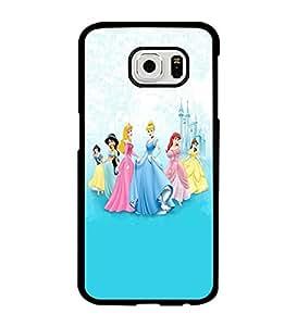 Designer Style Clear Hard Plastic Funda Funda Case For Samsung Galaxy S6 (not for s6 edge/ s6 edge plus) Cartoon Disney Disney Princess By RubberPhoneCoat