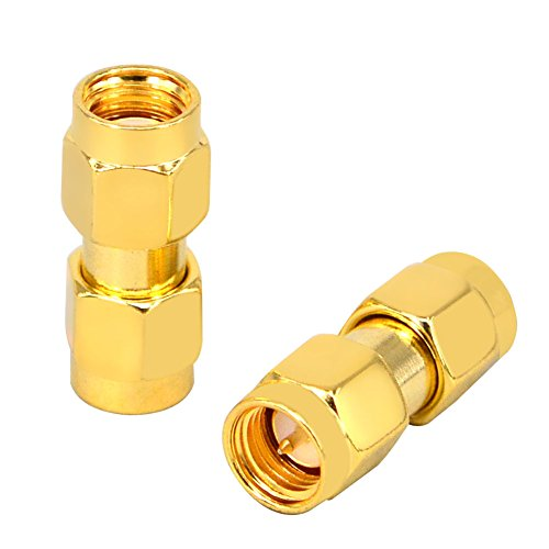 RF Coaxial SMA Male to RP SMA Male Female Pin Jumper Cable Connector for Audio FPV Antennas Radio Video Mobile Pack of 2