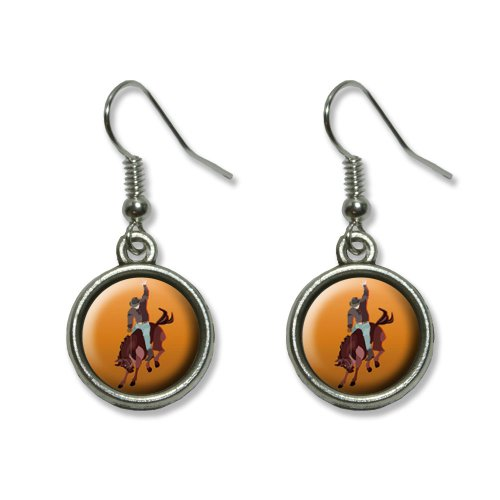 Graphics and More Rodeo Cowboy Orange - Western Horse Country Novelty Dangling Dangle Drop Charm (Country And Western Costumes)