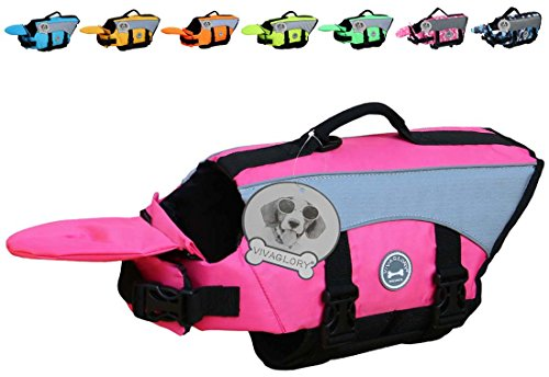 Flotation Pet Vest (Vivaglory Dog Life Jackets with Extra Padding for Dogs, X-Small - Pink)