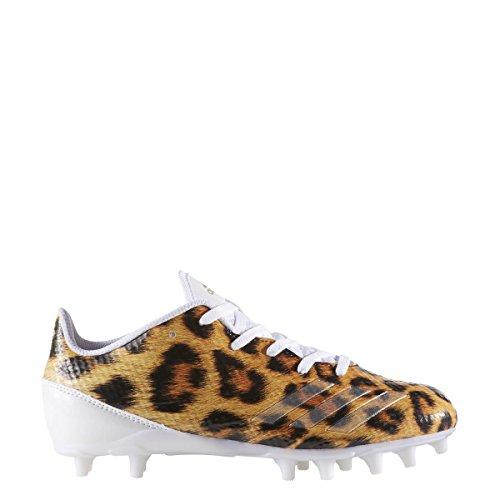 Adidas Adizero 5-sterren 6.0 Klamp Kids Voetbal Luipaard-wit-metallic Goud-zwart