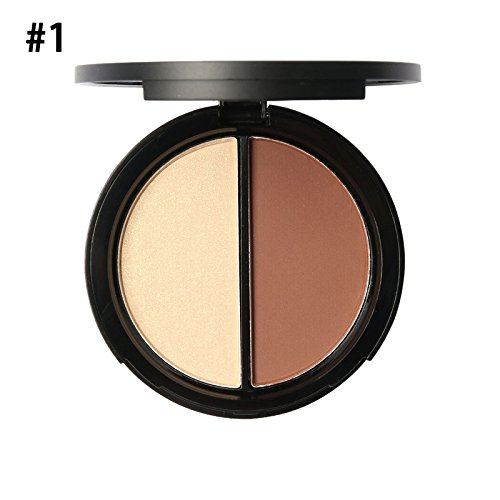 Shouhengda Makeup Blush Bronzer &Highlighter Concealer Bronzer Palette Comestic 2 Diff Color A01 -  SHD-DA0283A01