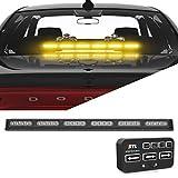 ultra tow light bar - SpeedTech Lights Striker TIR 6 Head LED Traffic Advisor Light Bar for Emergency Vehicles/Strobe Directional Warning Light Windshield Mount