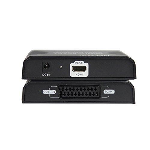 Scart Splitter - J-Tech Digital JTD-HDMI-SCART Premium Quality 1080p HDMI to SCART Video Converter Adapter Downscaler for SCART TV Projector HDMI1.3 HDCP