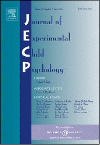 Картинки по запросу Journal of Experimental Child Psychology