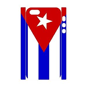 Cuba Flag Custom 3D Cell Phone Case for iPhone 5,5S by Nickcase