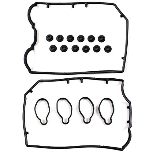 (CNS VC210 Brand New Engine Valve Cover Gasket Set (With Spark Plug Tube Seals and Grommets))