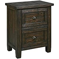 Ashley Trudell 2 Drawer Night Stand in Dark Brown