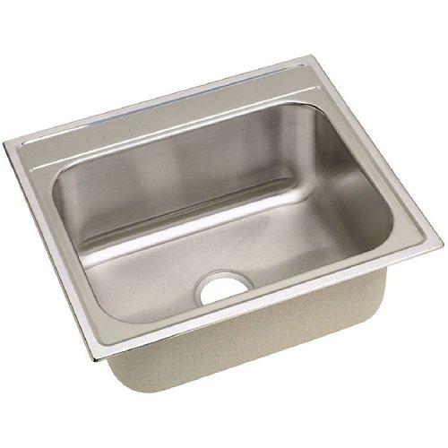 Elkay DPC12522100 20 Gauge Stainless Steel 25'' X 22'' X 10.25'' Single Bowl Top Mount Kitchen Sink