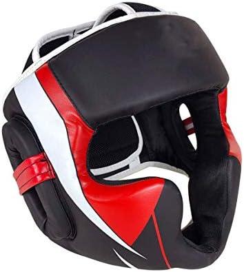 LMCLJJ ボクシングのトレーニングのためのHeadguard - 合成皮革のヘッドガード、耳&グラップリング、ムエタイ、キックボクシング、空手、テコンドー、ファイティング、格闘技用チークス保護帽子 (Size : L)
