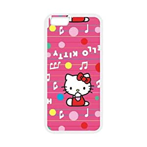 iPhone 6 4.7 Inch Cell Phone Case White Hello Kitty Music Pattern SLI_636494
