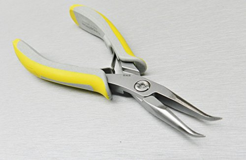 Lindstrom EX7892 Plier Bent Tip Chain Nose Pliers Ex-Series Smooth Jaws Swiss (3E) NOVELTOOLS ()