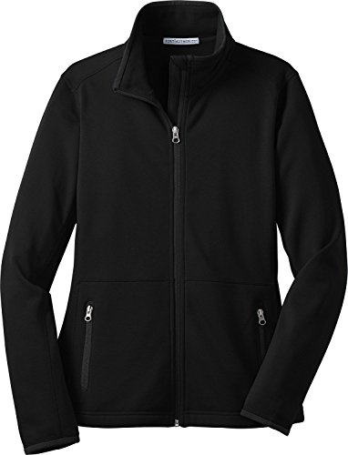 Port Authority Women's Ladies Pique Fleece Jacket. L222 M Black