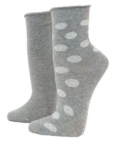 niño mujer Calcetines Con Skate 2 Paquete Calcetines - GRIS MOTEADO, 35/38