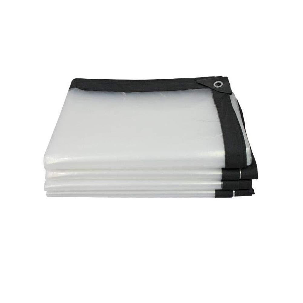 CJC Trasparente Impermeabile Telone Terra Foglio Tenda Plastica Politene Pesante Dovere All'aperto (Dimensioni   2x8m)