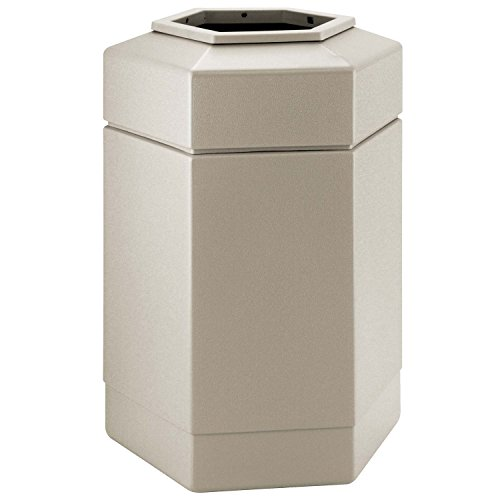 (Commercial Zone Waste Receptacle, 30 Gallon, Beige)