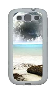 Custom Case for Samsung Galaxy S3 Rising Moon TPU Case Cover for Samsung Galaxy S3 SIII White