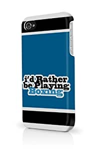 Blue Id Rather Be Playing Boxing iPhone 5 & 5S - Fits iPhone 5 & 5S Full Print Plastic Snap On Case