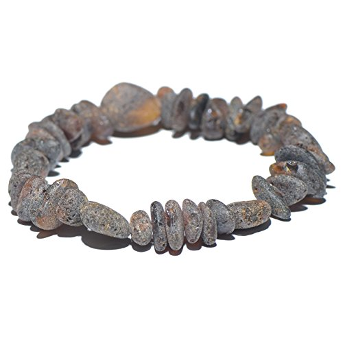 Genuine Raw Baltic Amber Bracelet for Adult - Choose your colors and choose your size! - 3 sizes and 10 different colors - 100% Authentic Baltic Amber (7 inches, Dark - Balance Pain $10 Bracelet