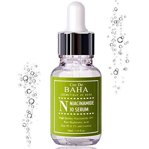 (Niacinamide 10% + Zinc 1% Serum 1oz for Face - Korean Skin Care for Pore Minimizer + Vitamin B3 for Brightening + Uneven Skin Tone Treatment + Diminishes Acne-prone, 1oz (30ml))