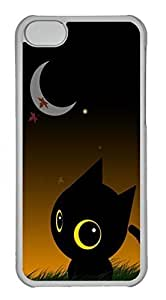 Customized iphone 5C PC Transparent Case - Good Night Cover by mcsharks