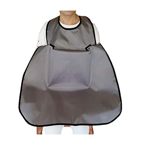 WLIXZ Baberos para Adultos, Protector de Ropa extralarga, Lavable, Mantiene la Comida Limpia, Reutilizable,1