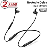 Avantree NB16 20Hrs Bluetooth Neckband Headphones Earbuds for TV PC, No Delay, Magnetic Wireless Earphones with Mic, Light & Comfortable, Compatible with iPhone Cell Phones Music & Call, Workout Gym