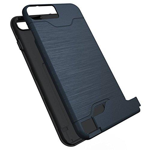 iPhone 7 Plus estuche de protección, protección de la capa dual [Valenth ranuras para tarjetas] caja híbrida de alto impacto para el iPhone 7 Plus color 2
