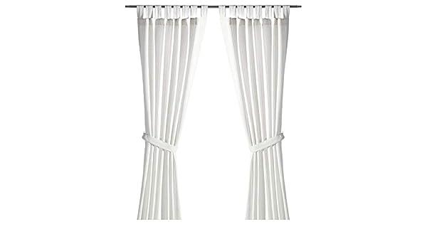 IKEA ASIA LENDA - Cortinas con alzapaños (1 par), Color Blanco ...