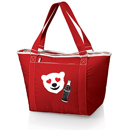 Picnic Time Coca-Cola Topanga Cooler Tote with Emoji Design, Red