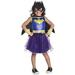 Rubie's Costume Girls DC Comics Deluxe Batgirl Costume, Small, Multicolor