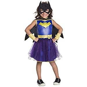 Rubies Costume Girls Dc Comics Deluxe Batgirl Costume Small Multicolor