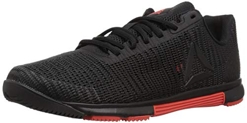 Reebok Men's Speed Tr Flexweave Cross Trainer, Black/Carotene, 9.5 M US