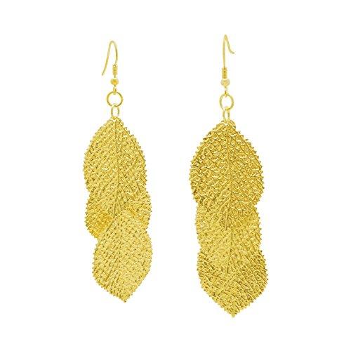 CORTINA - Leaf / Leaves Shape Dangling Gold - Clemente Sa