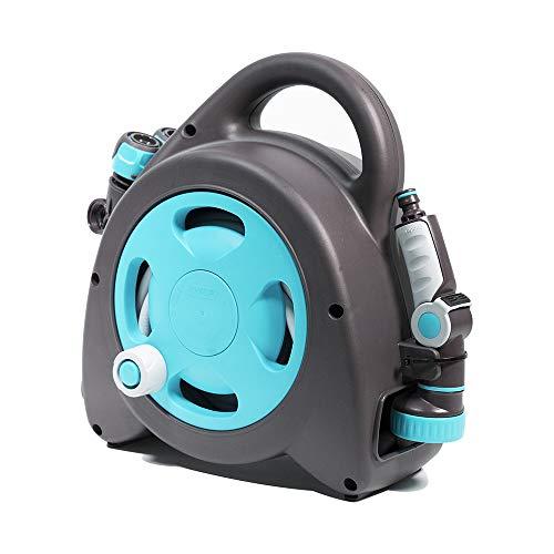 (GF Garden Aquabag Maxi Portable Hose and Reel - Max. 58 psi, 54 ft. Retractable Hose Line - Blue)