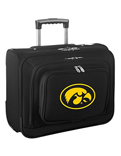 NCAA Iowa Hawkeyes Wheeled Laptop Overnighter by Denco