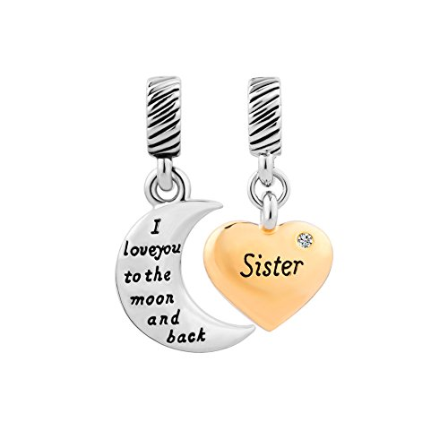 Sister Heart Charms Jewelry Bracelets