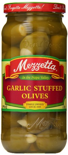 Garlic Olives Stuffed - Mezzetta Stuffed Olives, Garlic, 10 Ounce (Pack of 3)