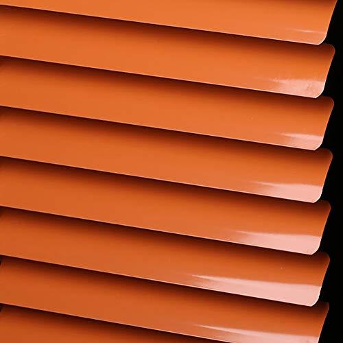 Orange Light Filtering Blinds - Venetian blinds Aluminium Mini Blind Trim-at-Home Dual Roller Blinds, Light Filtering, Multi-Size, Orange (Size : 50x80cm)