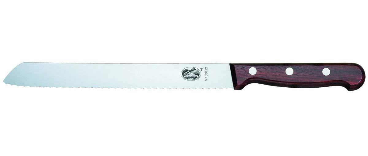 Victorinox - Cuchillo de Pan (21 cm, en Caja de Regalo, Acero Inoxidable, marrón, 30 x 5 x 5 cm)