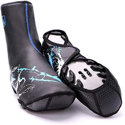 サイクリングシューズカバー 冬サイクル反射防水防水保護靴カバー防風防水 ロードバイクシューズカバー (色 : 青)