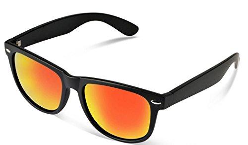 Sunglasses Classic 80's Vintage Style Design (Black Revo - Sunglasses Revo Vintage