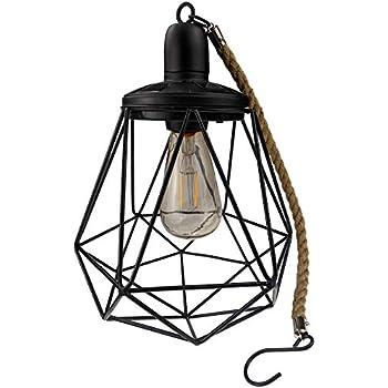 Yard Island Solar Led Edison Bulb Large Hanging Cage Lantern Style