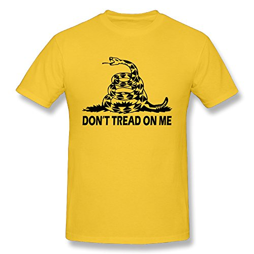 Gfae Ultra Soft O-Neck Men's T-shirt Dont Tread On Me Snake Pattern Print Sport Clothes Short Sleeve Tee For Men